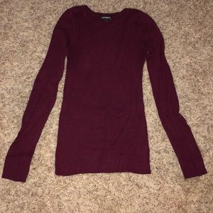 Maroon/purple sweater from Express, Size S